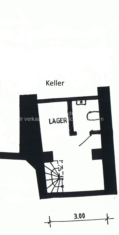 Plan mittelalterliches Kellergewölbe