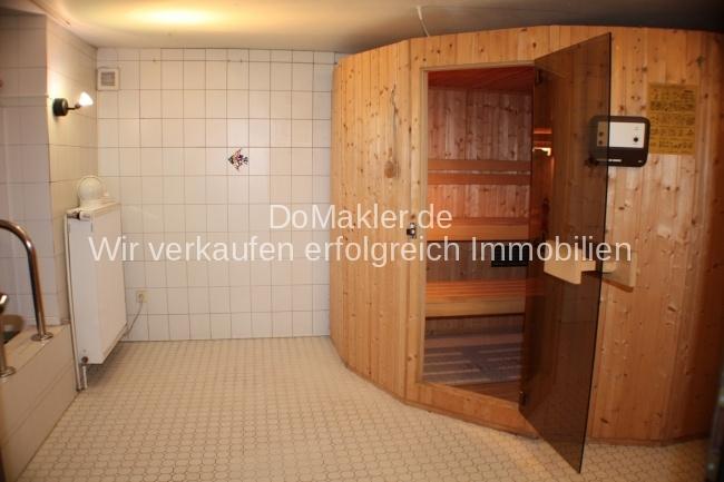 Großer Saunabereich.